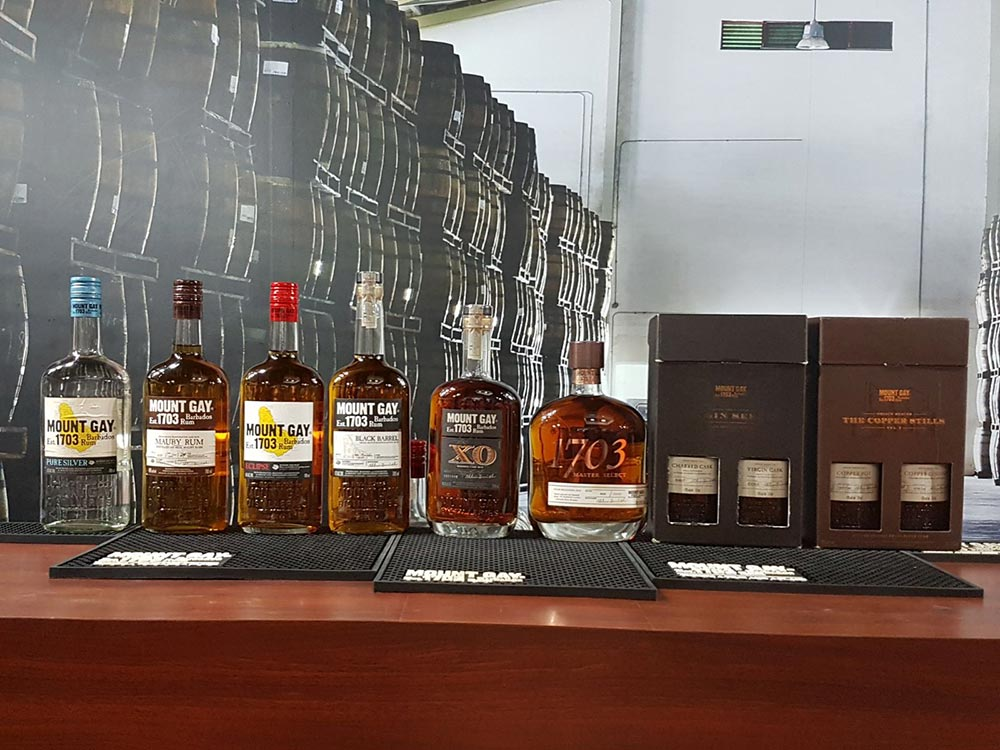 A selection rums in Barbados